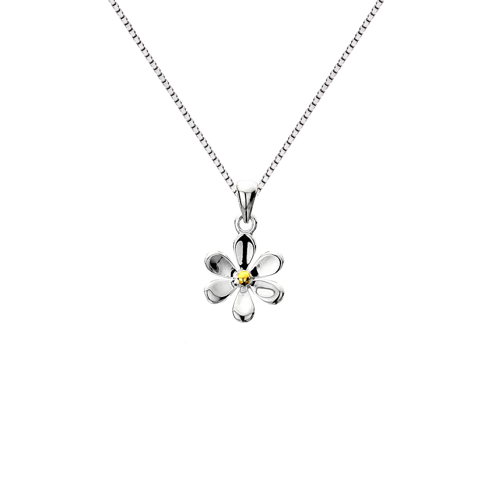 pendant lace en pandora us necklace daisy floral jewelry
