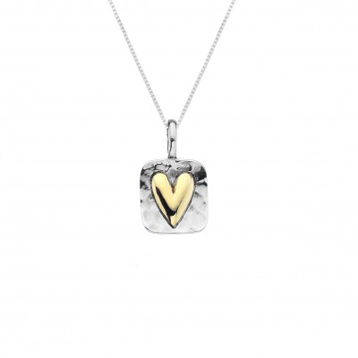 Silver Framed Heart Necklace