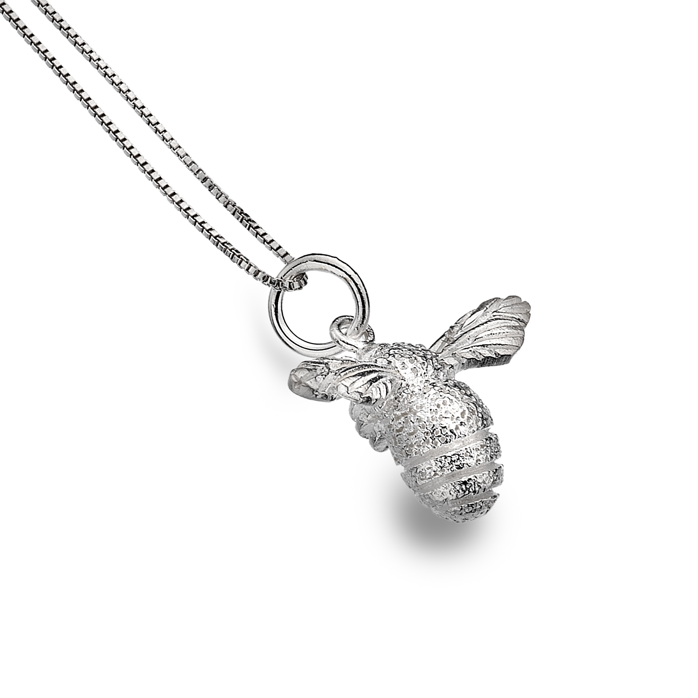 Necklace featuring a silver bee pendant katy jane necklace featuring a silver bee pendant aloadofball Choice Image