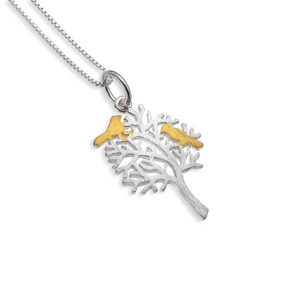 Bird Tree Necklace