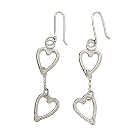 melted heart earrings