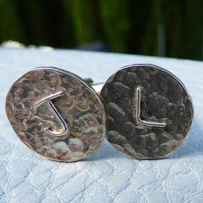 handmade silver cufflinks