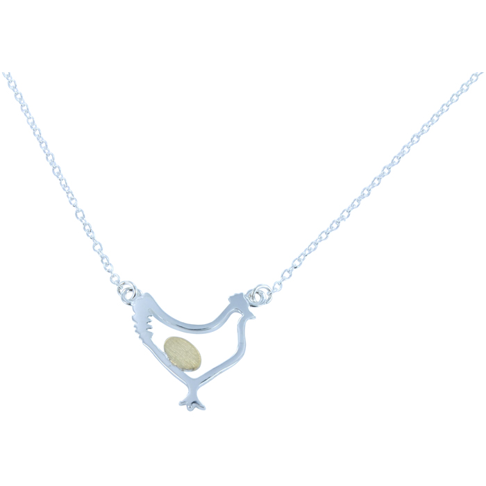 Chicken & Egg Necklace