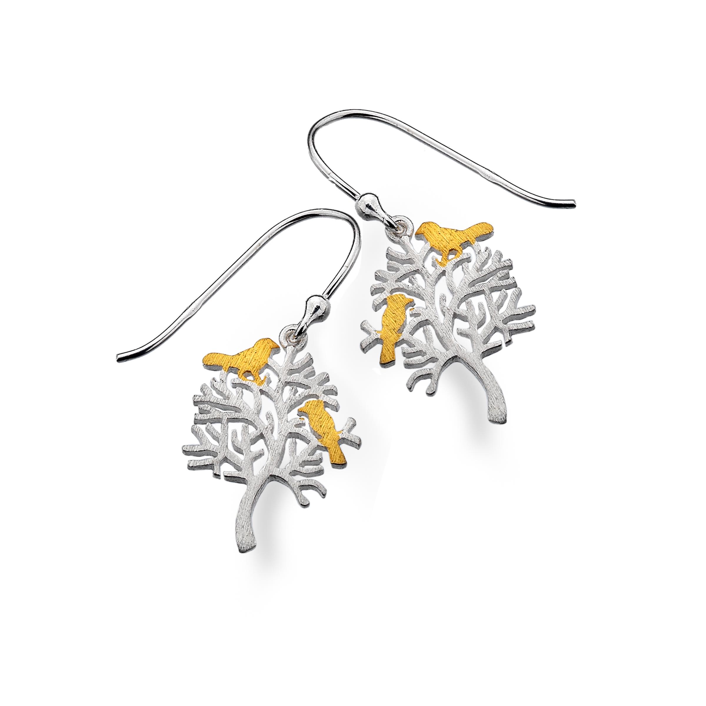 Bird Tree Earrings