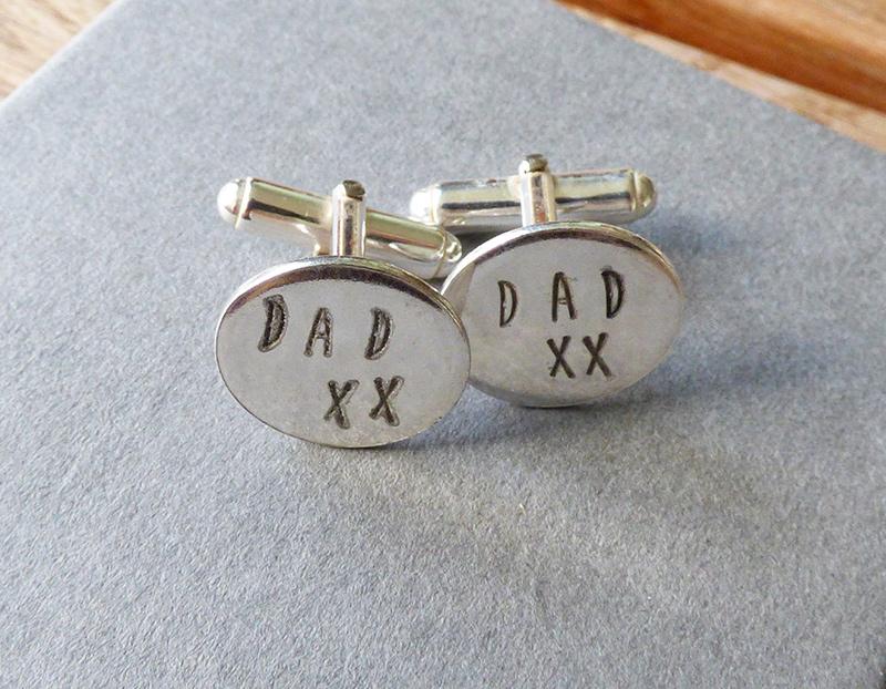 'Dad' Silver Cufflinks